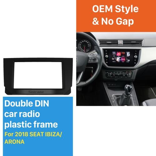 2 DIN Car Radio Fascia for 2018 SEAT IBIZA/ ARONA Stereo Dash Cover CD Trim installation Frame Panel Kit