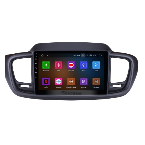 9 Inch Android 9.0 GPS navigation system Radio for 2015 2016 Kia Sorento with Mirror link HD 1024*600 touch screen OBD2 DVR Rearview camera TV 1080P Video 3G WIFI Steering Wheel Control Bluetooth USB