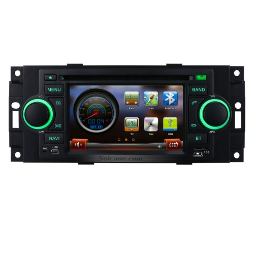 In Dash Autoradio GPS Navigation Bluetooth for 2006 2007 Mitsubishi Raider with DVD TV Tuner  AUX IPOD MP3 Steering Wheel Control Dual Zone SD USB