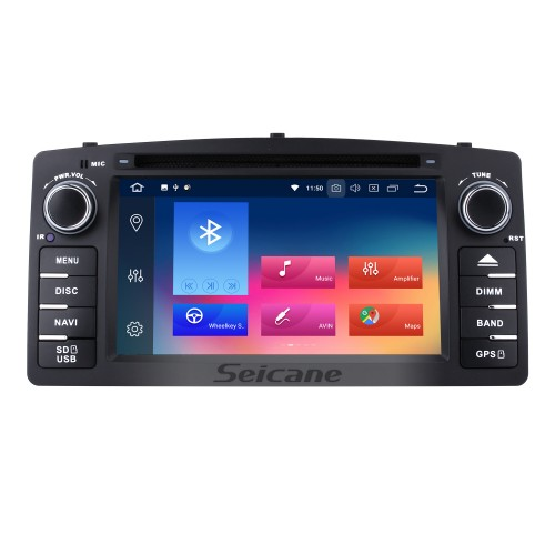 HD Touchscreen Radio Android 9.0 GPS Navigation for 2006-2012 Toyota Corolla E120 BYD F3 with Bluetooth Music USB Audio Aux WIFI Mirror Link Steering wheel control