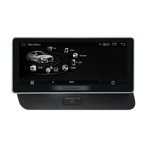10.25 inch Android 4.4 Radio for 2009 2010 2011-2015 AUDI Q3 1280*480 Touchscreen Bluetooth GPS Navigation Upgrade Multimedia Player 3G WIFI USB support Carplay DVR 1080P Video