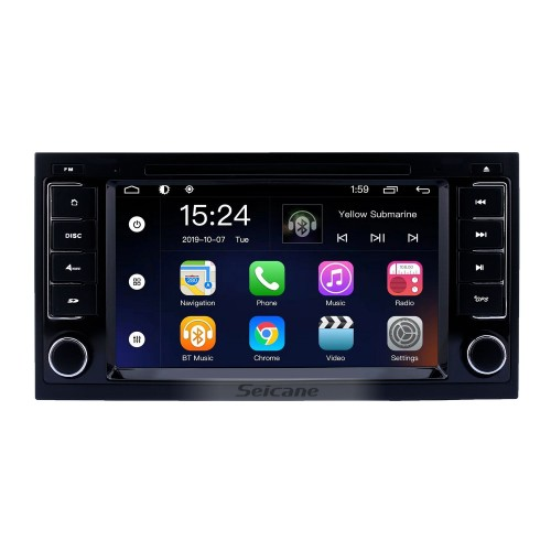 HD Touchscreen for 2004 2005 2006-2011 VW Volkswagen Touareg 2009 T5 Multivan/Transporter Radio Android 9.0 7 inch GPS Navigation System Bluetooth support Carplay OBD2