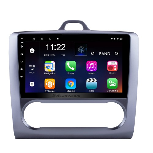 9 inch HD Touchscrren Android 8.1 2004-2011 Ford Focus Exi AT Radio with GPS Navigation WIFI Bluetooth USB Music 1080P Video Mirror Link Rearview Camera