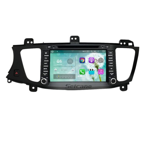 All-in-One Android 7.1 8 inch GPS navigation system for 2009-2012 KIA K7 with HD 1024*600 touch screen Radio DVD player Bluetooth OBD2 DVR  Rearview camera TV 3G WIFI Steering Wheel Control USB SD 1080P Video Quad-core CPU Mirror link