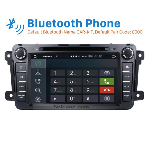 OEM Android 8.0 2007-2016 MAZDA CX-9 with Aftermarket GPS Navigation DVD Player Car Stereo Touch Screen WiFi 3G Bluetooth OBD2 AUX Mirror Link Backup Camera