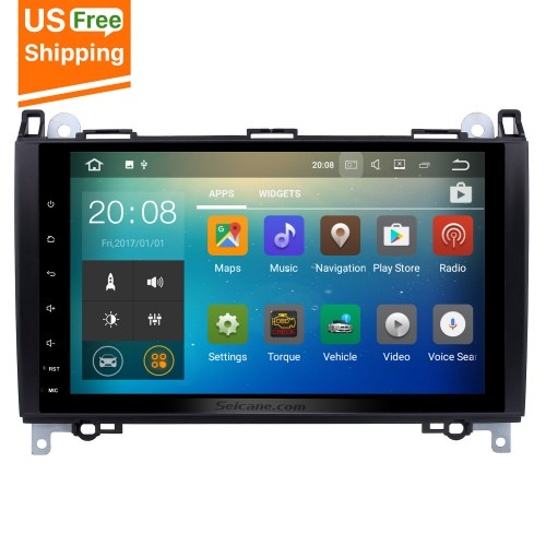 9 inch 2006-2012 Mercedes Benz Viano Vito Android 7.1 Radio GPS Navigation System with WiFi AUX Mirror Link OBD2 Bluetooth USB SD Steering Wheel Control