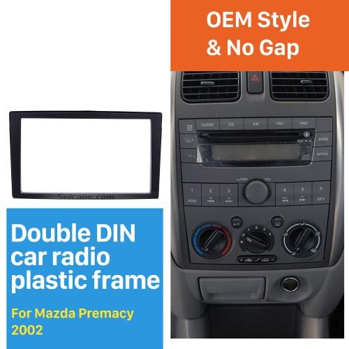 Newest 2DIN 2002 Mazda Premacy Car Radio Fascia Dash Player Auto Mount Installation Frame Surround Trim Panel Face Plate Kit