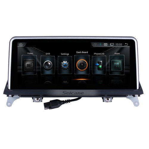 10.25 Inch Android 8.1 HD Touchscreen 2011 2012 2013 2014 BMW X5 E70 /X6 E71 CIC Car Stereo Radio Head Unit GPS Navigation Bluetooth Phone Music Support WIFI USB Steering Wheel Control Backup Camera