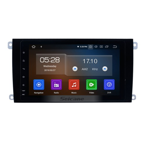8 Inch Android 9.0 Bluetooth Radio For 2003-2010 PORSCHE Cayenne with GPS Navigation system TPMS DVR OBD II Rear camera AUX Headrest Monitor Control USB SD Video 4G WiFi Capacitive Touch Screen