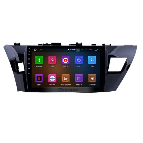 10.2 inch 2013 2014 2015 Toyota LEVIN Corolla Android 5.0.1 GPS Navigation System with 1024*600 touchscreen Bluetooth Radio OBD2 DVR Rearview camera TV 1080P 4G WIFI Steering Wheel Control Mirror link CPU Quad Core