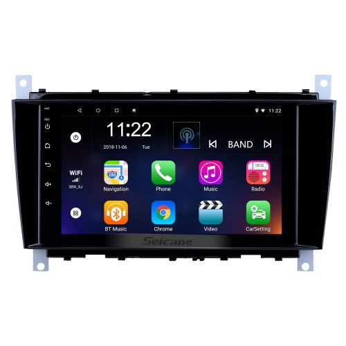 8 inch Android 8.1 GPS Navigation Radio for 2004-2011 Mercedes Benz C Class C55 / CLC Class W203 /CLK Class W209 /CLS Class W219 with Bluetooth WiFi Touchscreen support Carplay DVR