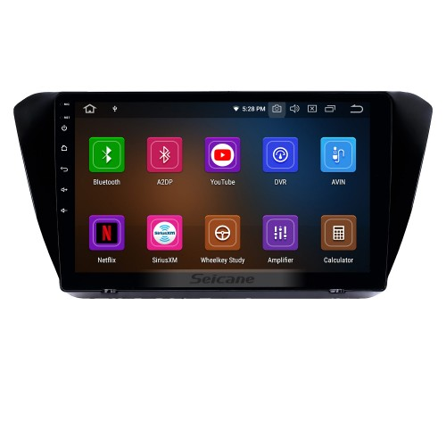 10.1 inch Android 9.0 Radio for 2015-2018 Skoda Superb Bluetooth HD Touchscreen GPS Navigation Carplay USB support TPMS DAB+ DVR