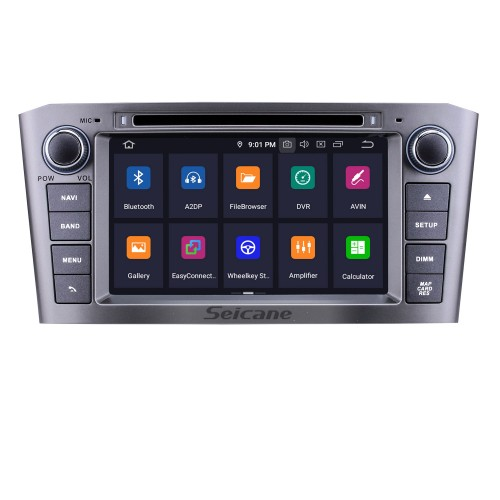 2005 2006 2007 TOYOTA AVENSIS 7 inch Android 9.0 DVD Player GPS Navi Radio Support Bluetooth Mirror Link 1080P Video USB SD DVR WIFI OBD2 Aux