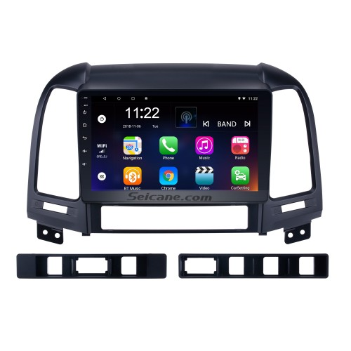 OEM 2005-2012 HYUNDAI SANTA FE Radio Upgrade with Android 8.1 Bluetooth GPS Navigation Car Audio System Touch Screen WiFi 3G Mirror Link OBD2 Backup Camera DVR AUX