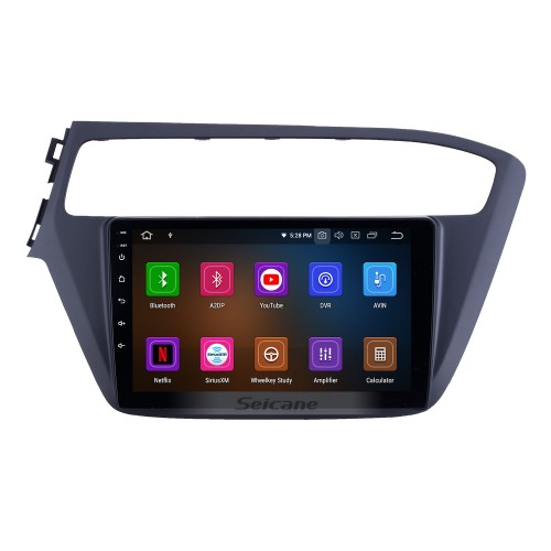 9 inch Android 10.0 GPS Navigation Radio for 2018-2019 Hyundai i20 LHD with HD Touchscreen Carplay Bluetooth WIFI AUX support TPMS Digital TV