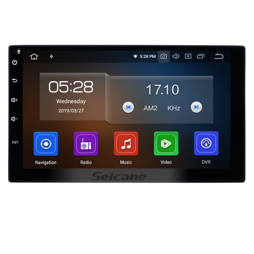 7 inch HD Touch screen 2 Din Universal Radio Android 10.0 GPS Navigation system with Bluetooth Phone WIFI Multimedia Player 1080P Video USB Steering Wheel Control