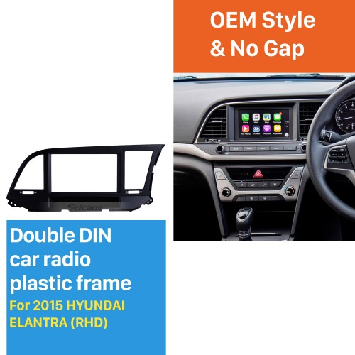 Awesome 2Din 2015 HYUNDAI ELANTRA RHD Car Radio Fascia Stereo Install Frame CD Trim Dash Installation Kit