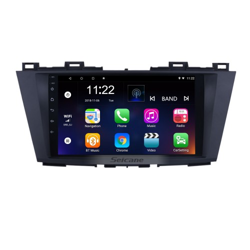 9 inch Android 8.1 GPS Navigation System for 2009 2010 2011 2012 Mazda 5 with Radio HD 1024*600 Touch Screen support DVR TV Video WIFI OBD2 Bluetooth USB Backup Camera Steering Wheel control Mirror link
