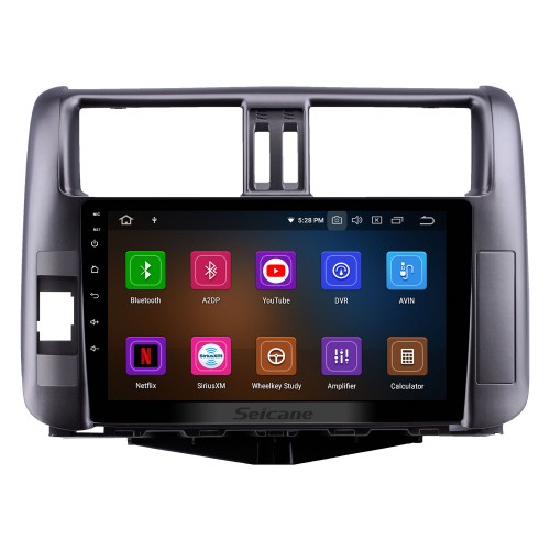 OEM 9 inch Android 9.0 HD Touchscreen Bluetooth Radio for 2010-2013 Toyota Prado 150 with GPS Navigation USB FM auto stereo Wifi AUX support DVR TPMS Backup Camera OBD2 SWC