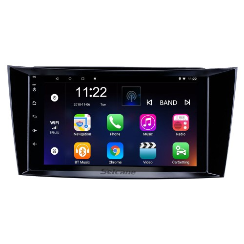 8 inch Android 8.1 HD Touchscreen GPS Navigation Radio for 2001-2010 Mercedes Benz E-Class W211/CLS W219/CLK W209/G-Class W463 with Bluetooth WIFI AUX support Carplay Mirror Link