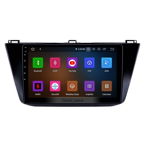 10.1 inch Android 9.0 Radio for 2016-2018 VW Volkswagen Tiguan Bluetooth HD Touchscreen GPS Navigation Carplay USB support TPMS DAB+ DVR