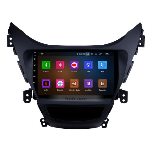 9 inch Android 9.0 DVD GPS Stereo for2011 2012 2013 Hyundai Elantra with Radio Bluetooth Music Mirror Link OBD2 Backup Camera Steering Wheel Control