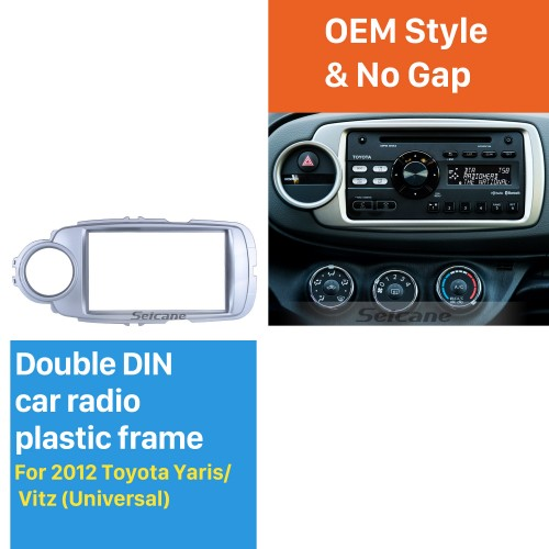 Universal Double Din 2012 Toyota Yaris Vitz Car Radio Fascia CD Trim Installation Panel Adaptor Audio frame