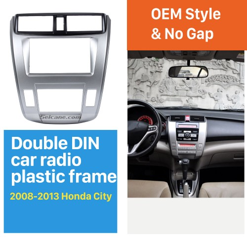 Great Quality 2Din 2008-2013 Honda City Ballade Auto AC Car Radio Fascia Frame DVD Panel Dash Kit Auto Stereo