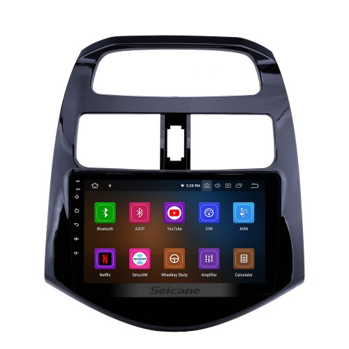 9 inch 2011-2014 chevy Chevrolet DAEWOO Spark Beat Matiz Bluetooth Radio Android 9.0 GPS Navigation Head unit with HD Touchscreen Mirror Link FM WIFI music USB support Backup Camera TPMS Carplay SWC DVR