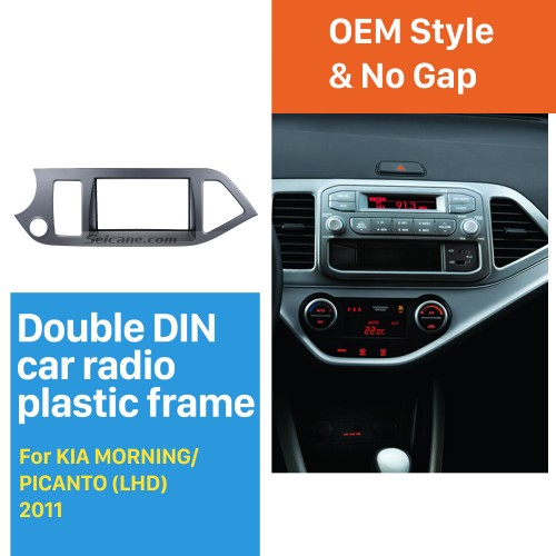 Perfect 2Din 2011 KIA MORNING PICANTO Left Hand Drive Car Radio Fascia Trim Panel Kit DVD Frame AutoStereo Interface