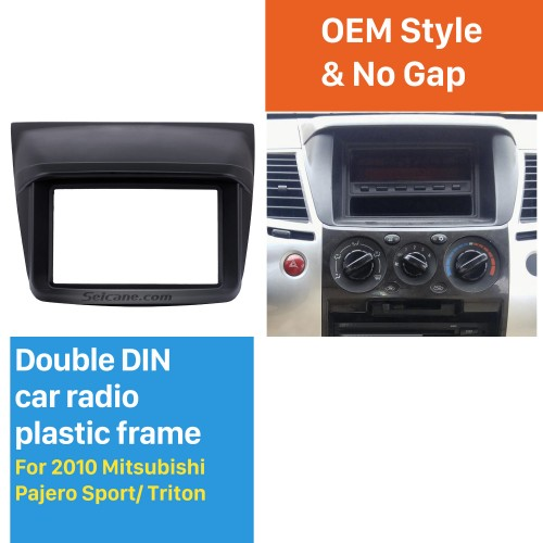 Stunning Design Din 2010 Mitsubishi Pajero Sport Triton Car Radio Fascia Trim Installation Kit DVD Player Fitting Frame