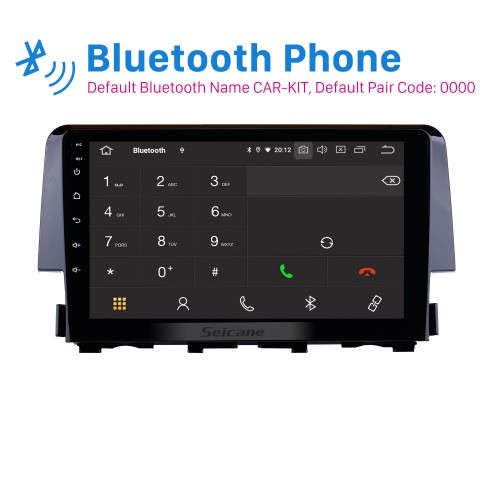 Android 10.0 9 inch 1024*600 Touchscreen Radio for 2016 Honda civic with GPS Navigation System Bluetooth 3G/4G WIFI Mirror Link Steering Wheel Control 1080P video