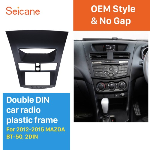 New Double 2Din 2012-2015 MAZDA BT-50 Car Radio Fascia CD DVD Frame Panel stereo installation Car Styling