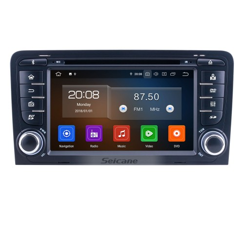 7 inch For 2011 Audi A3 Radio Android 10.0 GPS Navigation System with Bluetooth HD Touchscreen Carplay support Backup camera