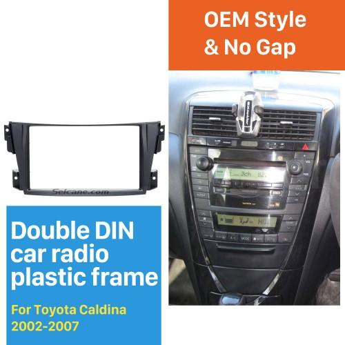 Trendy Double Din 2002-2007 Toyota Caldina Car Radio Fascia Stereo Dash CD Trim Panel Frame Installation Kit