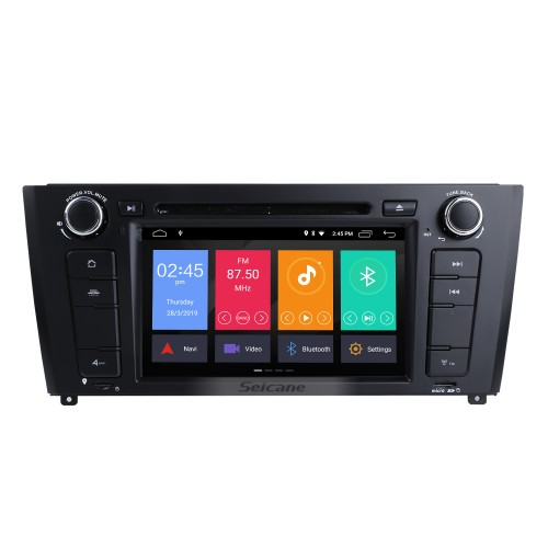 7 inch Android 9.0 HD Touchscreen 1024*600 2004-2012 BMW 1 Series E81 E82 116i 118i 120i 130i with Bluetooth Radio DVD Navigation System AUX WIFI Mirror Link OBD2