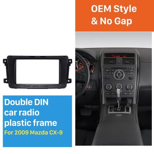 Quality 2Din 2009 Mazda CX-9 Car Radio Fascia Dash DVD Player Installation Trim Panel Face Plate Car Kit Frame
