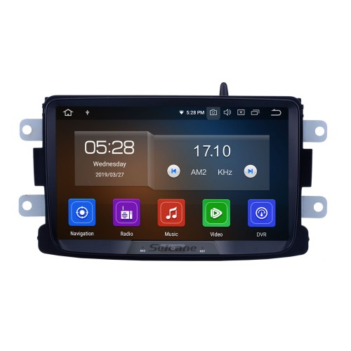 8 Inch Android 9.0 Touch Screen radio Bluetooth GPS Navigation system For 2014 2015 2016 RENAULT Deckless Duster Support TPMS DVR OBD II USB SD 3G WiFi Rear camera Steering Wheel Control HD 1080P Video AUX