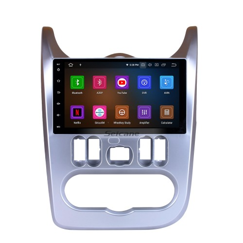 Android 9.0 9 inch HD Touchscreen GPS Navigation For 2008 2009 2010 2011 2012 RENAULT DUSTER Logan Radio Stereo Bluetooth Support Aux Audio system 1080P Video 4G WIFI Rearview Camera Steering wheel control