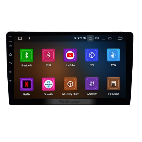 10.1 inch Android 9.0 Universal GPS Navigation Sytem Bluetooth Phone HD Touchscreen Mirror Link 4G WIFI AUX DVR 1080P DAB TPMS Backup Camera