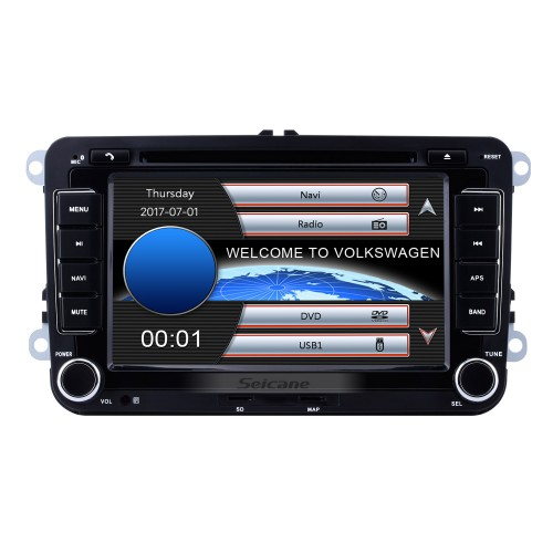 7 inch HD Touchscreen 2 Din Universal Radio DVD Player GPS Navigation Car Stereo for VW VOLKSWAGEN Seat Golf Passat with Bluetooth Phone MP3 USB SD Multimedia player Support Aux Digital TV RDS