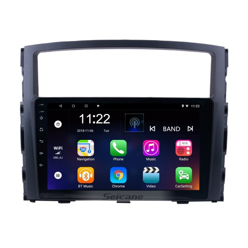 9 inch HD 1024*600 Touch Screen 2006 2007 2008-2013 Mitsubishi PAJERO V97/V93 Android 8.1 Radio GPS Navigation Car Stereo with Bluetooth Music MP3 USB 1080P Video WIFI Mirror Link