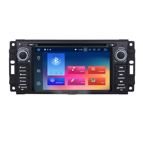 Android 9.0 Car A/V DVD Navigation System for 2007-2013 Jeep Wrangler Unlimited with Radio Mirror Link 3G WiFi 1080P Rearview Camera OBD2