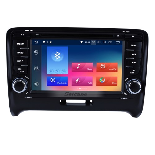 Double Din Pure Android 9.0 2006-2013 Audi TT MK2 GPS DVD In Dash Radio System with Bluetooth Radio RDS 4G WiFi Mirror Link OBD2 HD 1024*600 Multi-touch Screen Backup Camera