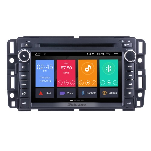 2 Din Android 9.0 Radio Head Unit for 2009 2010 2011 GMC Chevy Chevrolet Express VAN Traverse with HD 1024*600 touchscreen GPS Sat Nav DVD Player Audio System WiFi Bluetooth Mirror Link 1080P Video