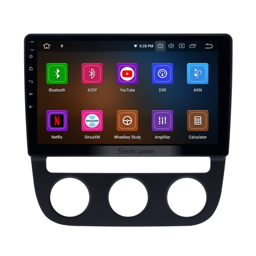 10.1 inch Android 9.0 GPS Navigation Radio for 2006-2010 VW Volkswagen Sagitar Auto A/C with HD Touchscreen Carplay Bluetooth support 1080P
