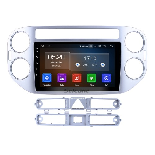 9 inch Android 9.0 In Dash Bluetooth GPS System for 2010 2011 2012 2013 2014 2015 VW Volkswagen Tiguan with 3G WiFi Radio RDS Mirror Link OBD2 Rearview Camera AUX