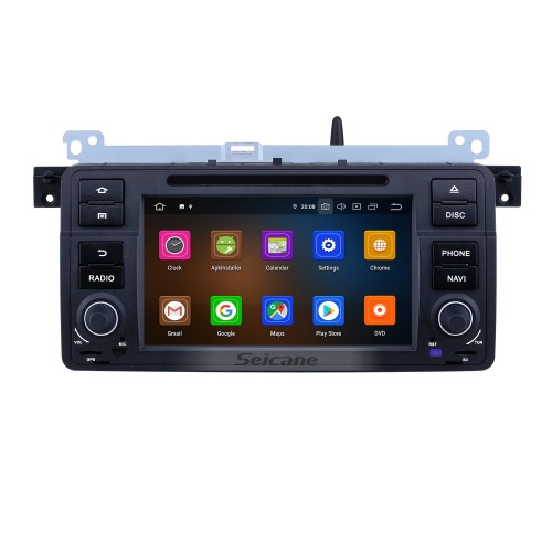 7 inch Android 9.0 GPS Navigation Radio for 1998-2006 BMW 3 Series E46 M3 with HD Touchscreen Carplay Bluetooth WIFI USB support OBD2 SWC Steering Wheel Control