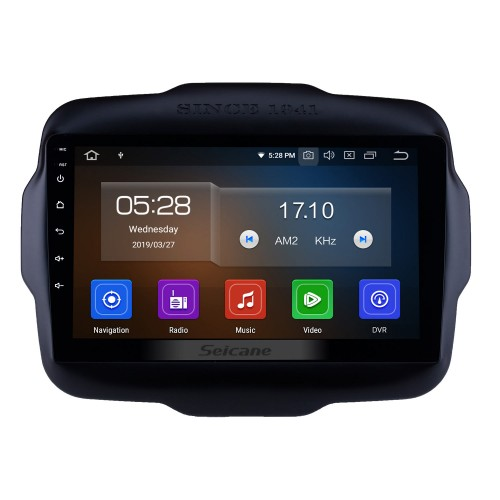 9 inch Android 10.0 2016 Jeep Renegade HD Touch Screen Radio GPS Navigation System Support WIFI 3G Bluetooth Music USB OBD2 AUX Backup Camera DVR Steering Wheel Control