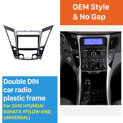 Universal 2Din 2010 HYUNDAI SONATA YF LOW-END Car Radio Fascia Fitting Frame Dash Mount Panel Adaptor